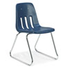 "Virco 9618 - 9000 Series Sled-Based Chair with Steel Back Support - 18"" Seat Height  (Virco 9618)"