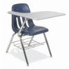 "9700BRM - Tablet Arm Chair Desk with 18"" Seat, 12"" x 20"" x 25"" Hard Plastic Top, with Bookrack  (Virco 9700BRM)"