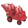 Angeles 4 Passenger Bye-Bye Baby Buggy® Never Flat Fat Tire - Red(Angeles AGL-AFB6300F)