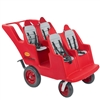 Angeles 4 Passenger Bye-Bye Baby Buggy® Never Flat Fat Tire Red w/ Gray Seat Cushions(Angeles AGL-AFB6300FA)