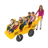 Angeles 6 Passenger Bye-Bye Baby Buggy® Never Flat Fat Tire Yellow (Angeles AGL-AFB6400SB)