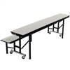 "AmTab All-In-One Mobile Convertible Bench - 72""L (AmTab AMT-ACB6)"