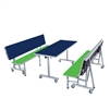 "AmTab Mobile Convertible Bench with Table - Package - 80""W x 60""L x 38""H <br> (AMT-ACBP245)"