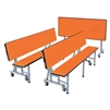 "AmTab Mobile Convertible Bench with Table - Package - 86""W x 60""L x 38""H <br> (AMT-ACBP305)"