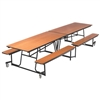 "AmTab Mobile Bench Cafeteria Table - 30""W x 10' 1""L (AmTab AMT-MBT10)"