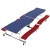 "AmTab Mobile Bench Table - Rectangle - 35""W x 10'1""L - 4 Benches (AmTab AMT-MBWT10)"