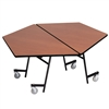 "AmTab Mobile Shape Tables - Hexagon - 48"" Hexagon Diameter (AmTab AMT-MHX48)"