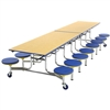 "AmTab Mobile Stool Table - Rectangle - 30""W x 12'1""L - 16 Stools (AmTab AMT-MST1216)"