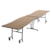 "AmTab Mobile Shape Table - Wave - 35""W x  12'1""L (AmTab AMT-MWT12)"