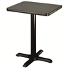 "AmTab Café Table - Square - Cast Iron Pedestal Base - 24""W x 24""L x 30""H (AmTab AMT-PT2430)"