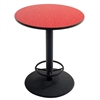 "AmTab Café Table - Round - Cast Iron Pedestal Base - Footring - 36"" Diameter x 42""H (AmTab AMT-PTR3642)"