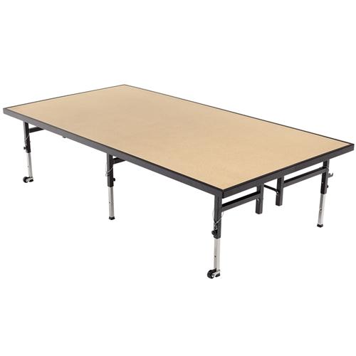 Amtab Adjustable Height Stage Hardboard Top 48 W X 96 L X Adjustable 24 To 32