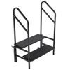 "AmTab Two Steps with Handrails (8""H + 16""H Steps) - 36""W x 30""L x 55""H <br> (AmTab AMT-STP2)"