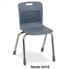 "Virco AN16 - Analogy Series 4-Legged School Chair, 16"" Seat Height (Virco AN16)"