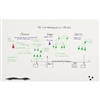 Best-Rite Elemental Frameless Magnetic Whiteboard - 2'H x 3'W<br> (Best-Rite BES-208JB-25)