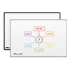 Best-Rite Magne-Rite Whiteboard - Presidential Trim (Silver) 3'H X 4'W  (Best-Rite BES-219PC)
