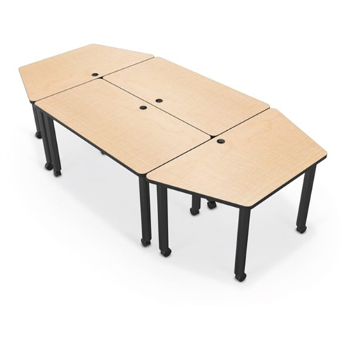 Balt Modular Conference Table Trapezoid W X D Black Edgeband - Trapezoid conference table
