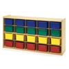 Value Line 20-Tray Cubby Storage with Colored Trays
