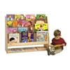 Value Line Birch 4-Shelf Book Display with Storage