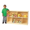 "Value Line Birch 30""H Mobile Divided 2-Shelf Storage"
