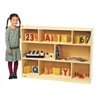 "Value Line Birch 36""H Mobile Divide 3-Shelf Storage"