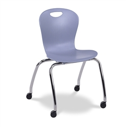 "Virco CZ18C - Civitas Series Mobile Ergonomic Chair, Contoured Seat/Back - 18"" Seat Height (Virco CZ18C)"