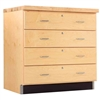 Diversified Woodcrafts Maple Base Cabinet - 4 Drawers (Diversified Woodcrafts DIV-121-3622M)