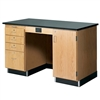 "Diversified Woodcrafts 5' Instructor's Desk w/ Cabinet on Right Side - Phenolic Resin Top - 60""W x 30""D<br>(Diversified Woodcrafts DIV-1214KF-R)"