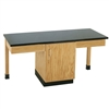 "Diversified Woodcrafts 2 Station Table w/ Door - Plastic Laminate Top - 66""W x 24""D<br> (Diversified Woodcrafts DIV-2101K)"