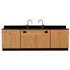 "Diversified Woodcrafts Wall Service Bench w/ Storage Cabinets Epoxy Top - 108"" W X 24"" D (Diversified Woodcrafts DIV-3216K)"