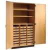 "Diversified Woodcrafts TTote Tray & Shelving Storage Cabinet - 48"" W x 22"" D (Diversified Woodcrafts DIV-351-4822)"