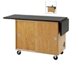 Diversified Woodcrafts  Two-Student Science Cabinet Table - Two Book Compartments - ChemGuard Top (Door)<br> (Diversified Woodcrafts DIV-C2102K)