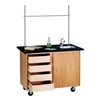Diversified Woodcrafts Mobile Demonstration Table w/ Drawers (Diversified Woodcrafts DIV-4222K)