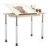 Diversified Woodcrafts ADJ Adaptable Drawing Table - Single Station (Diversified Woodcrafts DIV-ALTD1-6030)