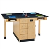 "Diversified Woodcrafts Four Station Service Center w/ Out Sink, Door & Drawer - 132""W x 30""D<br>(Diversified Woodcrafts DIV-C2524KF)"