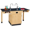 "Diversified Woodcrafts Two Station Service Center w/ Sink & Door - 66""W x 30""D<br>(Diversified Woodcrafts DIV-C2714K)"