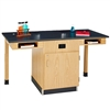 "Diversified Woodcrafts Two Station Service Center w/ Sink & Door - 66""W x 30""D<br>(Diversified Woodcrafts DIV-C2714KF)"
