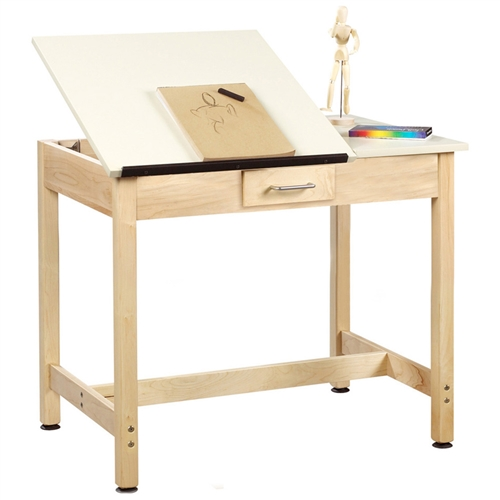 Diversified Woodcrafts Art Drafting Table W Small Drawer 36 X 24 D Div Dt 2sa30