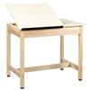 "Diversified Woodcrafts Art / Drafting Table w/ 2 Piece Top - 36""W x 24""D  (Diversified Woodcrafts DIV-DT-9SA30)"