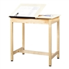 "Diversified Woodcrafts Art / Drafting Table w/ 2 Piece Top - 36""W x 24""D  (Diversified Woodcrafts DIV-DT-9SA37)"