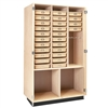 "Diversified Woodcrafts Tote Tray Drafting Supply Cabinet - 48""W x 22""D  (Diversified Woodcrafts DIV-DTC-5)"