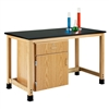 "Diversified Woodcrafts Add-A-Cabinet Table w/ 1 Door over Drawer- Epoxy Resin Top - 60""W x 30""D (Diversified Woodcrafts DIV-H7146K36S-19)"