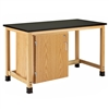 "Diversified Woodcrafts Add-A-Cabinet Table w/ Single Door - Epoxy Resin Top - 60""W x 30""D (Diversified Woodcrafts DIV-H7146K36S-33)"