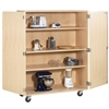 "Diversified Mobile Shelf Storage Cabinet - 48""W x 22""D (Diversified Woodcrafts DIV-MSSC-200)"