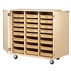 "Diversified Mobile Tote Tray Cabinet - 48""W x 22""D (Diversified Woodcrafts DIV-MTTC-4824WD)"