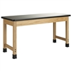 "Diversified Woodcrafts Science Table - Plain Apron - Epoxy Resin Top - 72""W X 42""D<br> (Diversified Woodcrafts DIV-P7406K30L)"