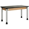 "Diversified Woodcrafts Adjustable-Height Table - Phenolic Resin Top - 54""W X 24""D (Diversified Woodcrafts DIV-P8204K)"