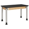"Diversified Woodcrafts Adjustable-Height Table - Plastic Laminate Top - 72""W X 24""D<br> (Diversified Woodcrafts DIV-P8301K)"