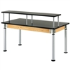 "Diversified Woodcrafts Adjustable Riser Table - Phenolic Resin Top - 60""W x 30""D (Diversified Woodcrafts DIV-PR8144K)"