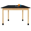 "Diversified Woodcrafts Trapezoid Science Table - Plastic Laminate Top - 60""W x 24""D (Diversified Woodcrafts DIV-TZ7601K30N)"